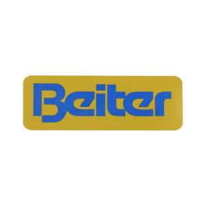 Beiter Logo Aufkleber 155x55 Gelb Blau